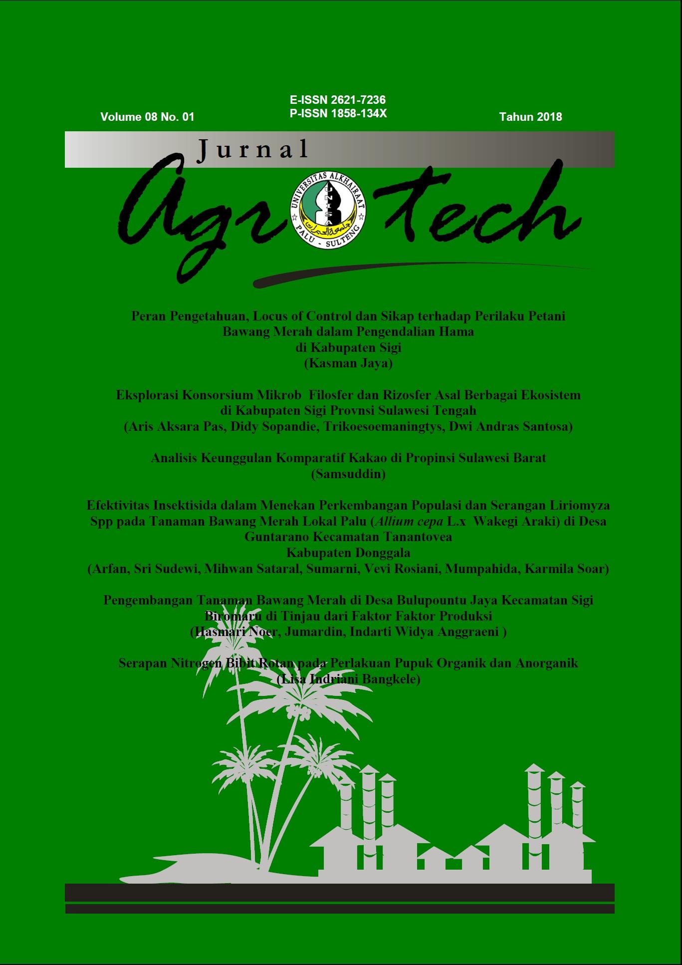 Hasil gambar untuk jurnal agrotech
